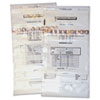 QUA45240 Coin Totes, Double Handle, 13 x 25, Clear, 100 per Pack QUA 45240