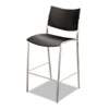 MLNESS2B Escalate Stacking Stool, Plastic Back/Seat, Black, 2 Stools/Carton MLN ESS2B