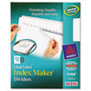 AVE11428 Index Maker Clear Label Dividers, 12-Tab, Letter, White AVE 11428