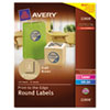 AVE22808 Round Easy Peel Labels, 2-1/2