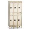 SAF5526TN Double Tier, Three-Column Locker, 36w x 18d x 78h, Two-Tone Tan SAF 5526TN