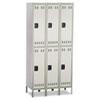 SAF5526GR Double Tier, Three-Column Locker, 36w x 18d x 78h, Two-Tone Gray SAF 5526GR