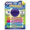 SAN1785102 Washable Dry Erase Marker, Med Point, Starter Set, Assorted, 4/Pk w/Eraser SAN 1785102
