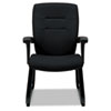 GLB5092BKS110 Synopsis Series Guest Arm Chair With Sled Base, Black GLB 5092BKS110