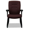 GLB5092BKS101 Synopsis Series Guest Arm Chair With Sled Base, Cabernet GLB 5092BKS101