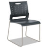 ALESC6546 Continental Series Perforated Back Stacking Chairs, Charcoal Gray, 4/Carton ALE SC6546