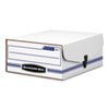 FEL48110 Liberty Binder-Pak Storage Box, Letter, Snap Fastener, White/Blue FEL 48110