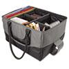 AUE14000 File Tote Bag, 600-Denier Nylon, 14 x 17 x 10-1/2, Gray/Black AUE 14000