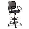 SAF3395BV Vue Series Mesh Extended Height Chair, Vinyl Seat, Black SAF 3395BV