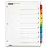CRD60838 QuickStep OneStep Bulk Index System, Title: 1-8, Letter, Multicolor, 24 Sets/Box CRD 60838