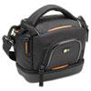 CLGSLDC203 Compact Camcorder Case, Nylon, 7 7/25 x 4 1/2 x 6 7/10, Black CLG SLDC203