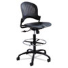 SAF3386BL Zippi Plastic Extended-Height Chair, Black SAF 3386BL