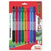 PENBK93CRBP8M R.S.V.P. RT Ballpoint Retractable Pen, Assorted Ink, 8/Pk PEN BK93CRBP8M