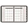 "AAG70100V05 Triple View Weekly/Monthly Appointment Book, Black, 6 7/8"" x 8 3/4"", 2015 AAG 70100V05"