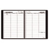 AAG7095005 Recycled Weekly Appointment Book, Black, 8 1/4