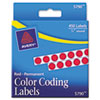 AVE05790 Permanent Self-Adhesive Color-Coding Labels, 1/4in dia, Red, 450/Pack AVE 05790