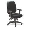 MLN2424AG2113 24-Hour High-Performance Task Chair, Acrylic/Poly Blend Fabric, Black MLN 2424AG2113