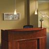 Mayline Sorrento Series Reception Desk with Veneer Counter