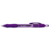 PAP35830 Profile Ballpoint Retractable Pen, Purple Ink, Bold, Dozen PAP 35830