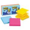 MMMR330AU Ultra Pop-Up Refills, 3 x 3, Three Ultra Colors, 6 100-Sheet Pads/Pack MMM R330AU