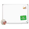 BVCMA0300790 MasterVision Earth Easy-Clean Dry Erase Board, White/Silver, 24x36 BVC MA0300790