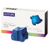 KAT37975 KAT37975 Compatible, 108R00660 Solid Ink Stick, 3,400 Yield, 3/Box, Cyan KAT 37975