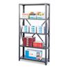 SAF6269 Commercial Steel Shelving Unit, 6 Shelves, 36w x 18d x 75h, Dark Gray SAF 6269