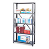 SAF6265 Commercial Steel Shelving Unit, 5 Shelves, 36w x 12d x 75h, Dark Gray SAF 6265