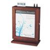 SAF4236MH Customizable Wood Suggestion Box, 10 1/2 x 13 x 5 3/4, Mahogany SAF 4236MH