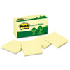 MMM654RPYW Recycled Notes, 3 x 3, Canary Yellow, 12 100-Sheet Pads/Pack MMM 654RPYW