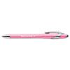 PAP70672 FlexGrip Elite Pink Ribbon Pen, Ballpoint, Retractable, Black Ink, Medium, Dozen PAP 70672