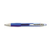 PAP1753363 Roller Ball Retractable Gel Pen, Blue Ink, Fine, Dozen PAP 1753363