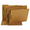 SMD14837 11 Point Kraft Folders, Two Fasteners, 1/3 Cut Top Tab, Letter, Brown, 50/Box SMD 14837