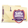 SMD19555 SafeSHIELD Fastener Folders, Manila, Two Inch Capacity, Legal, 50/Box SMD 19555