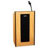 APLSW450MO Presidential Plus Wireless Lectern, 25-1/2w x 20-1/2d x 46-1/2h, Medium Oak APL SW450MO