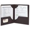 SMD87981 Lockit Two-Pocket Folder, Leatherette Stock, 11 x 8-1/2, Black, 25/Box SMD 87981