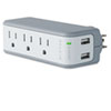 BLKBZ103050QTVL Mini Surge Protector with USB Charger, Wall Mount, 918 Joules BLK BZ103050QTVL