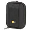 CLGQPB201 Compact Camera Case with EVA Shell, Polyester/EVA, 3-1/2 x 1-2/5 x 4-1/2, Black CLG QPB201