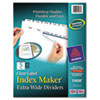 AVE11438 Index Maker Clear Label Dividers, 5-Tab, 11 1/4 x 9 1/4, White AVE 11438