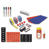BVCKT1317 Magnetic Board Accessory Kit, Blue/Red BVC KT1317