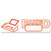 COS035583 Accustamp2 Shutter Stamp with Microban, Red, FAXED, 1 5/8 x 1/2 COS 035583