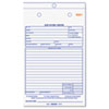 RED4L456 Job Work Order Book, 5 1/2 x 8 1/2, Two Part, 50/Book RED 4L456