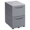 ICE95412 Aspira Mobile Underdesk Pedestal File, Resin, 2 File Drawers, Charcoal ICE 95412