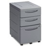 ICE95212 Aspira Mobile Underdesk Pedestal File, Resin, 2 Box/1 File Drawers, Charcoal ICE 95212