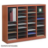 SAF9321CY Wood/Fiberboard E-Z Stor Sorter, 36 Sections, 40 x 11 3/4 x 32 1/2, Cherry SAF 9321CY