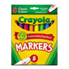CYO587708 Non-Washable Markers, Broad Point, Classic Colors, 8/Set CYO 587708