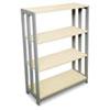 LITTR735OAT Trento Line Bookcase, 31-1/2w x 11-5/8d x 43-1/4h, Oatmeal LIT TR735OAT