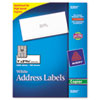AVE5351 Self-Adhesive Address Labels for Copiers, 1 x 2-13/16, White, 3300/Box AVE 5351