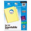 AVE11112 WorkSaver Big Tab Reinforced Dividers w/Clear Tabs, 8-Tab, Letter, Buff AVE 11112