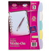 AVE16180 Translucent Multicolor Write-On Dividers, 5-Tab, 8-1/2 x 5-1/2, 1 Set AVE 16180